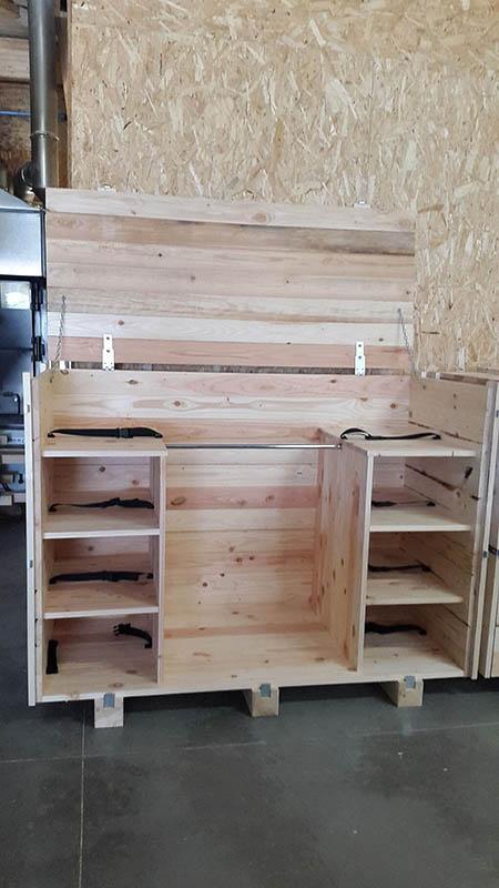 caisses en bois pour le transport industriel et maritime. Black Bedroom Furniture Sets. Home Design Ideas