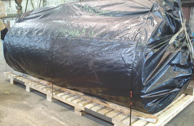 Emballages industriels en bois pour transport et maritime for Housse thermosoudable